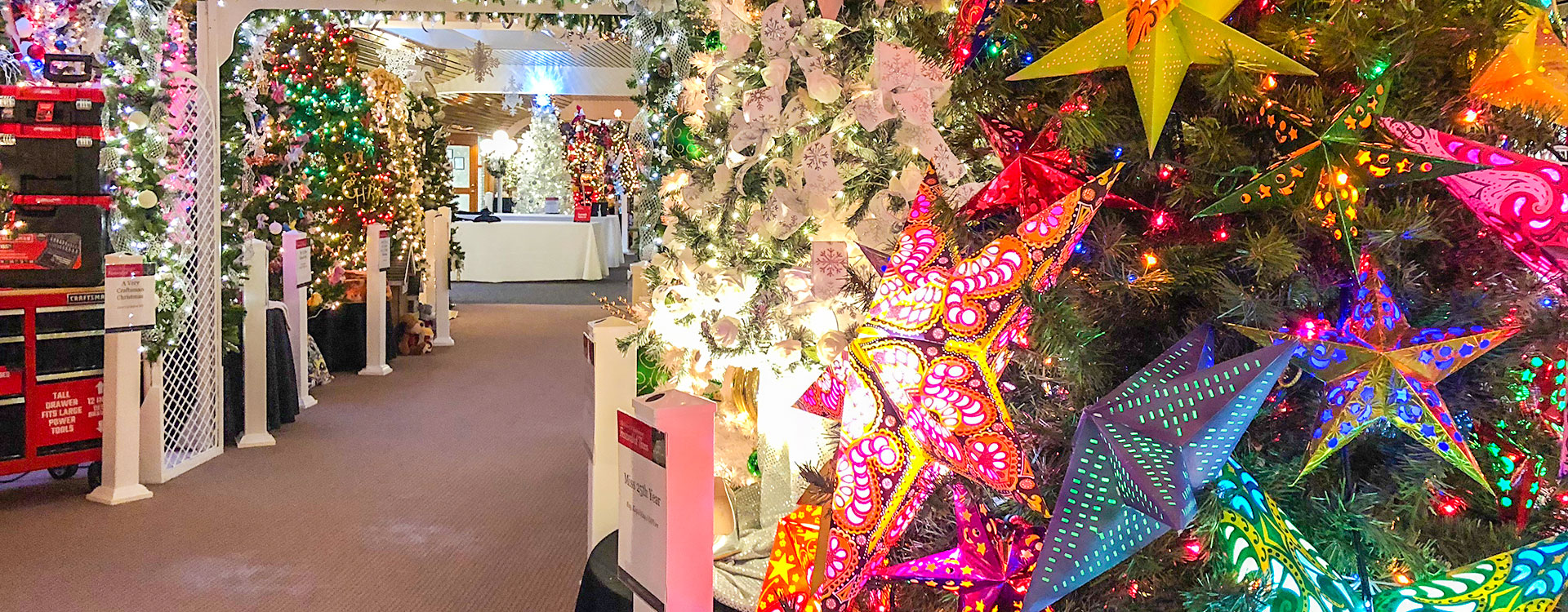 The exquisitely decorated holiday trees are set up at the annual Festival of Trees in Methuen, Massachusetts.
