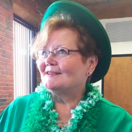 At The Simon Group, we love to celebrate holidays—one of our employees dresses up for St. Patrick's Day.