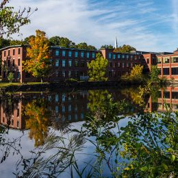 The Simon Group corporate offices are located in the Machine Shops Village area of North Andover, Massachusetts.